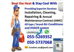ducted air con split package unit 055-5269352 gas fill top up clean repair erection maintenance