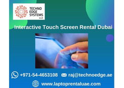 How Renting Interactive Touch Screen in Dubai?