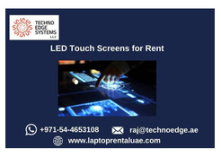 Why to Choose LED Touch Screens Rental Dubai?