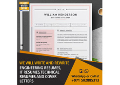 We will write and rewrite engineering resumes, IT resumes, technical resumes and cover letters