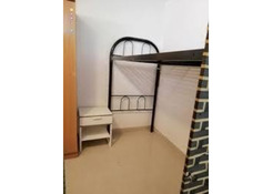 CLOSED PARTITION, UPPER AND LOWER BED SPACE AVAILABLE