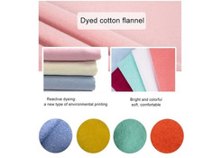 Dyed fleece flannel fabric for rag cloth