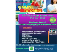 ONLINE TUITION CBSE X-XII