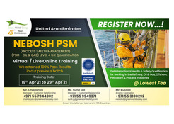 Book NEBOSH PSM in UAE at an Offer Price