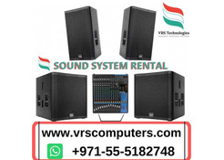 Sound Systems Rental Dubai - Speaker, DJ Equipment