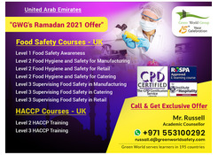 GWG's 2021 Ramadan Offer On Food Safety Course
