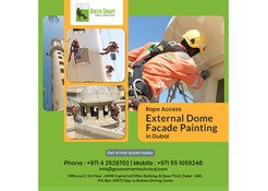 Rope Access External Dome Facade Painting in Dubai